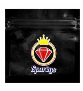 10 x Sparky's Grip Seal Printed Resealable Bags Black 60mm x 60mm