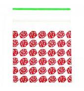 Grip Seal Zipper Printed Bag Baggies Red Dice 50mm x 50mm