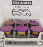 Metallic Icy Rainbow Herb Grinder 3 Part 40mm