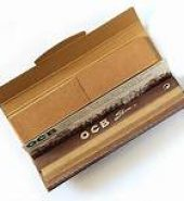 OCB Unbleached Slim Virgin Rolling Papers + Filter Tips x 2pcs
