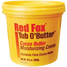 Red Fox Tub-O-Butter Jar 10.5oz