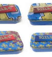 Rizla 2oz Metal Tins & Rolling Papers (Blue/Gold)