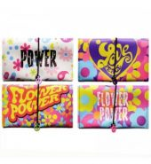 Atomic Flower Power Design Pouches – Assorted Colours