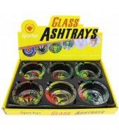 Sparkys Glass Ashtray- Rasta (Assorted Designs)-9cm