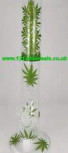 Glass Water Bong 45cm AC56 Assorted Colours