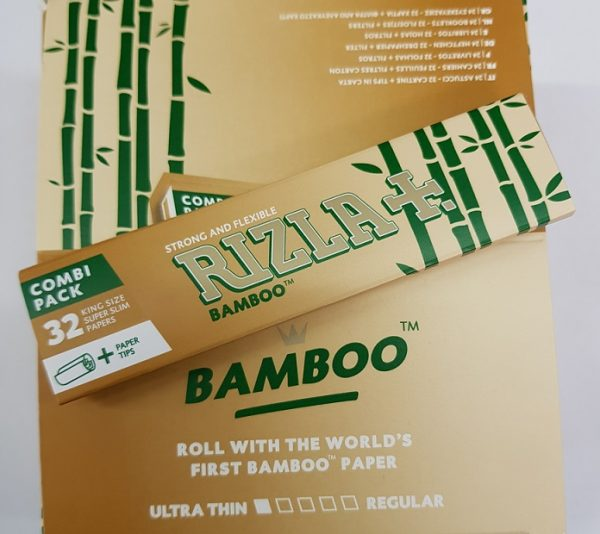Rizla King Slim Bamboo Combi Pack Rolling Papers + Tips