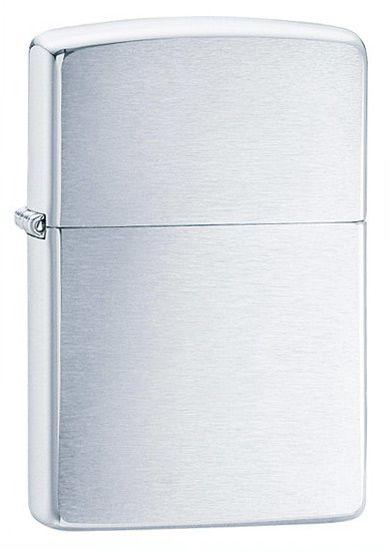 Genuine New Classic Brushed Chrome Zippo Lighter 200