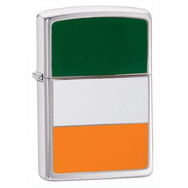 Genuine New Classic High Polish Chrome Irish Flag Zippo Lighter 200