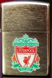 Genuine New Zippo Liverpool FC Brushed Chrome Lighter 200