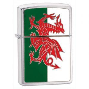 Genuine New Zippo Wales Dragon High Polish Chrome Lighter 200