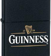 Zippo Guinness Dublin Matte Black Lighter 218