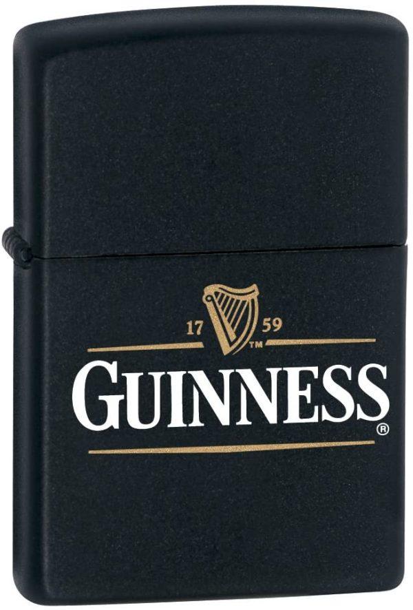 Zippo Guiness Dublin Matte Black Lighter 218