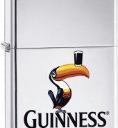 Genuine New Zippo Guinness Toucan High Polish Chrome Lighter 49093
