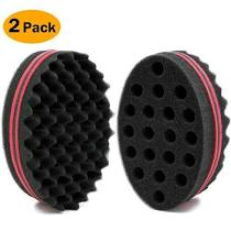 Afro Twist & Lock Sponge Double Sided Small Size 2 Pack
