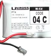 Uniross 04C PT4 3350mAh.6v Cordless Telephone Battery