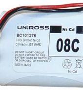 Uniross 101276 08C 3.6v 240mAh Cordless Phone Battery
