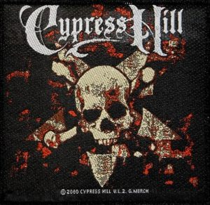 Cypress-Hill'Crossbones'-Embroidered-Patch-Official-Merchandising