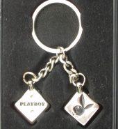Playboy 50th Anniversary Dice Metal Key Chain