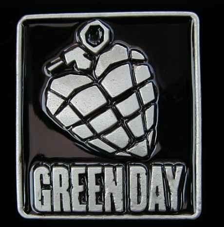 New-Official-Green-Day-'Grenade'-Metal-Belt-Buckle