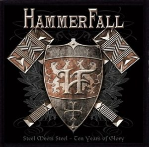 Hammerfall-'Steel meets-Steel'-Embroidered-Patch