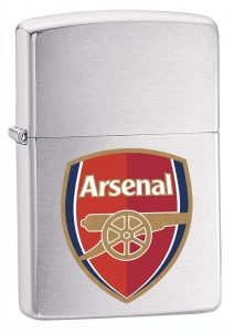 Zippo-Brushed-Chrome-Lighter-200AFC-Arsenal