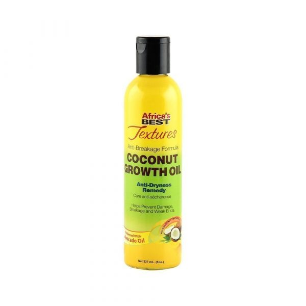 Africas Best Textures Anti Breakage Formula Coconut Growth Oil 8oz