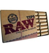 Raw Natural Unrefined Pre-Rolled Tips – 21 Tips Per Packet