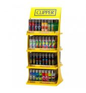 160 Clipper Flint Lighter with Display Stand + 80 Lighters Free!