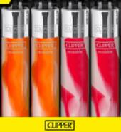 Clipper Assorted Fluo Nebula Gradient Flint Lighter 40pcs