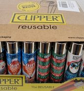 Clipper Assorted Christmas Collection Print Flint Lighter 40pcs