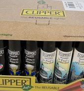 Clipper Assorted London Landmarks Printed Flint Lighter 40pcs